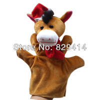 2013 Hot Selling Wholesales Price Stuffed Christmas Horse Hand Puppets 1pcs/lot 100% Short Plush Cute Stuffed Toys-D17