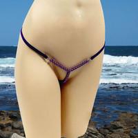 2014 Hot Sell VS Sexy Fashion Mini Micro Color Pearl Massage Bikinis Swimwear G string Thongs Underpants Boxers Briefs T pants