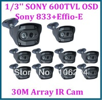 CCTV 600TVL Sony 833 +Effio-E  1PCS Array IR Leds 30m night vision outdoor Bullet Camera