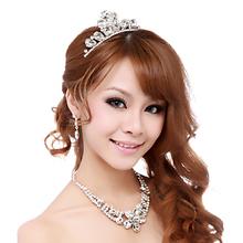 Bride zircon necklace three pieces set marriage fashion chain sets accessories crystal accessories brief