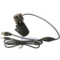 NI USB 30.0M 6 LED Webcam Camera With Mic Web Cam for Desktop PC Laptop Notebook