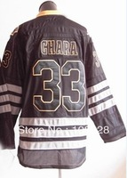 Free shipping,Ice Hockey Jersey,#33 Zdeno Chara Ice Black Hockey Jersey,Embroidery logos,Size M-3XL,Mix Order