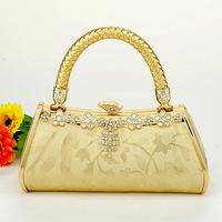 Evening bag handbag dj package ktv clock bag 782 gold