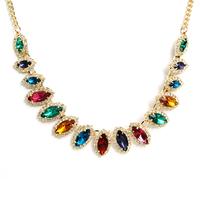 Accessories vintage necklace gem short design bridal necklace jewelry 040