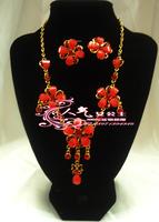 Hanfu costume costumes cheongsam gorgeous necklace earrings set princess