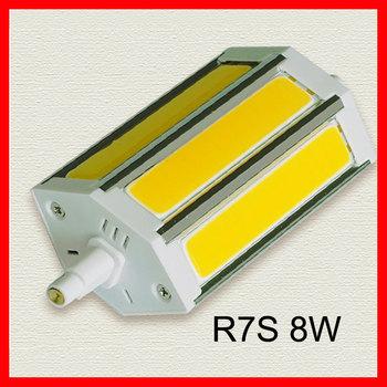 New product cob r7s led dimmer bulb High bright Landscape lighting R7S LED Bulb COB LED 7W and 8W super bright  20pcs/lot
