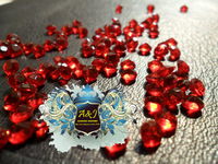 Free Shipping-1 Carat (6.5mm)dark red color Acrylic Diamond Confetti Table Scatter Crystals Wedding Favor Decoration