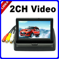 "4.3"" foldable LCD Color camera DVD VCR CCTV Car Monitor CN Q-04"