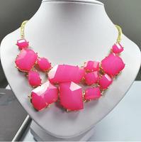 Hot selling product 2013 Fashion irregular resin charm necklace Women delicate necklace Free shipping HeHuanXLK009