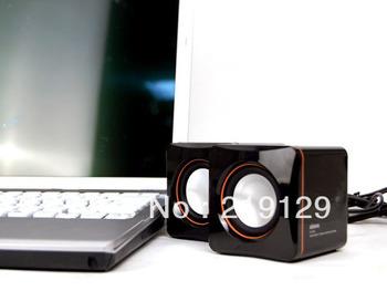 Top saling!  Mini speaker, music box,  USB 3.5mm high speaker, speaker for laptop mp3/4, Free shipping!