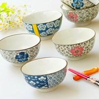 4.5 ! traditional ceramic tableware glaze rice bowl