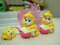 Free shipping 12 PCS Princess Aurora Kawaii Flatbacks Scrapbooking Resin Flat Backs DIY  Craft BOW
