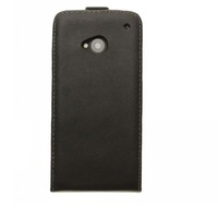 Novelty Leather Flip Case for HTC ONE M7 Newest Black colors (HongKong Post Air Mail Free shipping  )