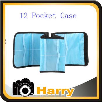 Nylon Filter UV CPL Wallet 12 Pocket Case Pouch Carry Bag For UV FLD CPL MC-UV filter