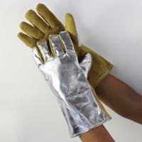 Welding gloves 10 - 2385 reflective aluminum foil high temperature resistance welding gloves