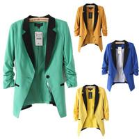 ZA Women's blazer Foldable Brand Jacket women clothes suit vintage blazer one button shawl cardigan jackets NZS013