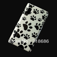 Cute Dog footprint plastic case cover skin for LG Optimus L5 E610 free shipping