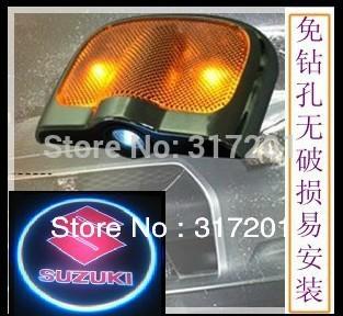 Free ship!SUZUKI SX4/alto/Swift/Landy/Wagon R/Liana/Jimny/GRAND VITARA LED door LOGO light,3W 12V,2pcs/set(one car need 2set)(China (Mainland))