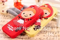 New Style Little Red Riding Hood soft phone shell case for iPhone 4 4S made of Silicon phone shell Free DHL 100PCS/Lot