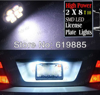 2pcs White T10 8 SMD LED Number NO. License Plate Tag Light Bulbs For Subaru Forester 1998~2012 Impreza 2004~2012
