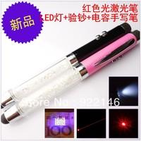 Red laser pen capacitor handwritten pen money detector pen led mini flashlight