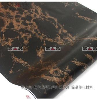 Self desktop wallpaper marble sticker tapete for living room wood vinyl background