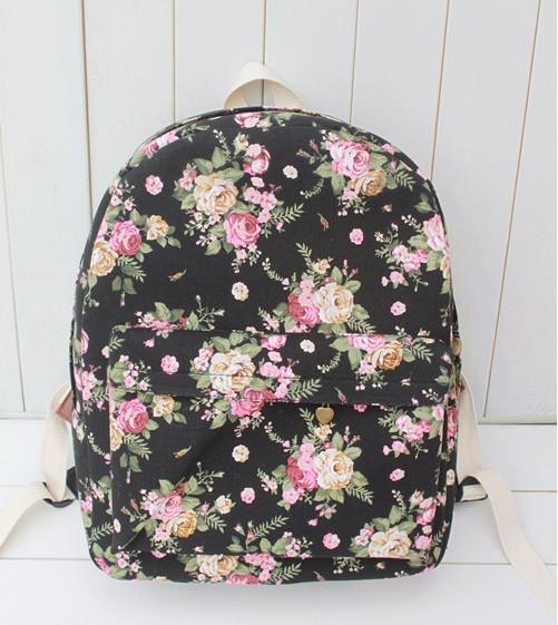 Wholesale Girls High School Rucksack Children Cute Floral Designer