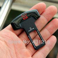 INSTOCK Freeshipping 2pcs/LOT Car accessary metal Eliminate Stop Alarm Seat Belt Insert Plug for KIA