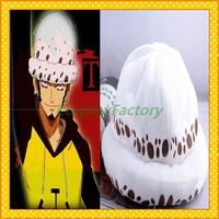 Free Shipping One Piece Anime Cosplay Trafalgar Law Plush Hat,300g/pc