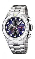 Festina Heren Armband Uhr Edelstahl Tour Chrono Blau F16527/6
