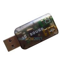 O3T# Virtual 5.1 Channel Track 3D Sound Card Speaker Mic Earphone Audio Adapter