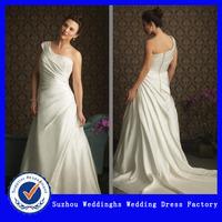Elegant One-shoulder A-line Plus Size Wedding Dress