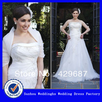 Plus Size Organza Strapless Wedding Dress