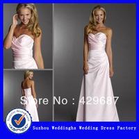 Elegant Satin Sweetheart Ruched Neckline A-line Evening Dress 2013