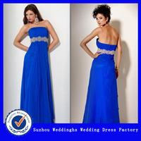 Elegant Strapless Vertical Ruched Evening Dress With Belt