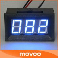 "DC 6V/12V Electronic Temperature Monitor 0.56"" DC 0-167 Fahrenheit Blue LED Digital Thermometer #090732"