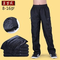 Children's clothing trousers boy sports pants   child male child trousers