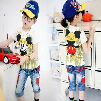 3018 summer ploughboys 100% MICKEY MOUSE cotton cartoon t-shirt