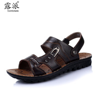Free shipping, Male sandals male leather sandals  genuine leather summer beach men men's