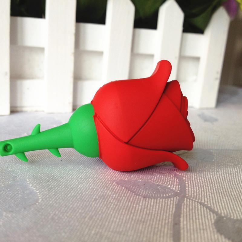 pen drive cartoon red rose 4gb/8gb/16gb/32gb bulk flower usb flash drive flash memory stick pendrive gift free shipping()