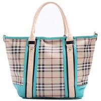 on sale 2013 fashion leather plaid portable women's hand bag fashion simple elegant female bags wholesale 4 colors plaid bag
