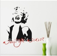 Marilyn Monroe PVC Word Lettering Wall Decal DIY Room Decor Background/Wall Stickers Vinyl Art Home Decoration Free Shipping
