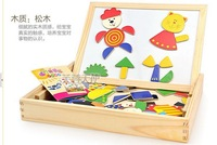 2014 The skillful wood magnetic spell Le jigsaw puzzle board Children Educational Wooden toys