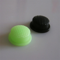 Light green luminous black silicon rubber push button switch plastic cap end cap flashlight