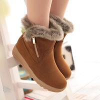 New hot shoes flat platform casual boots female boots martin motorcycle Snow boots Size 34-40 ankle boots