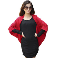 Free shipping+Faux women's cardigan long design shoulder width plus size batwing sleeve