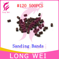 Free Shipping 500pcs #80 #120 #180 Sanding Bands For Manicure Pedicure Nail Drill Machine,Grinding Sand Ring