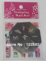 Free Shipping 96Styles Octagon Stainless Steel Nail Art Stamp Stamping Plate Template, Printing Image Plate 30pcs/lot Wholesale