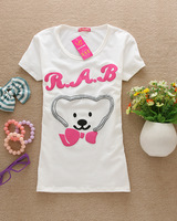 A190 2013 summer Hot sell Fashion Good Quality Cotton T Shirt Women Tops T-shirts Ladies clothes