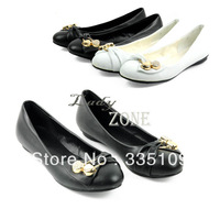 New Women Spring Summer Ladies Bow Rhinestone Flat Heel Single Shoes Female Shoes Leather Flat Shoes Casual Shoes 17515